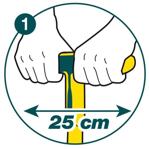 Leborgne 438302 Fourche à bêcher 4 dents carrées 30 cm avec manche//béquille en en Fibre