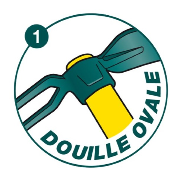Serfouette forgée panne et fourche douille ovale duopro 4